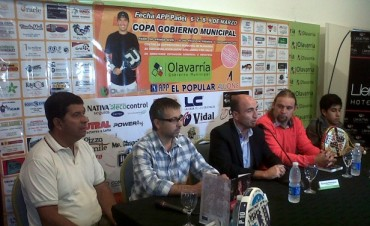 """Presentaron el torneo profesional de Pádel """"Copa Gobierno Municipal"""""""