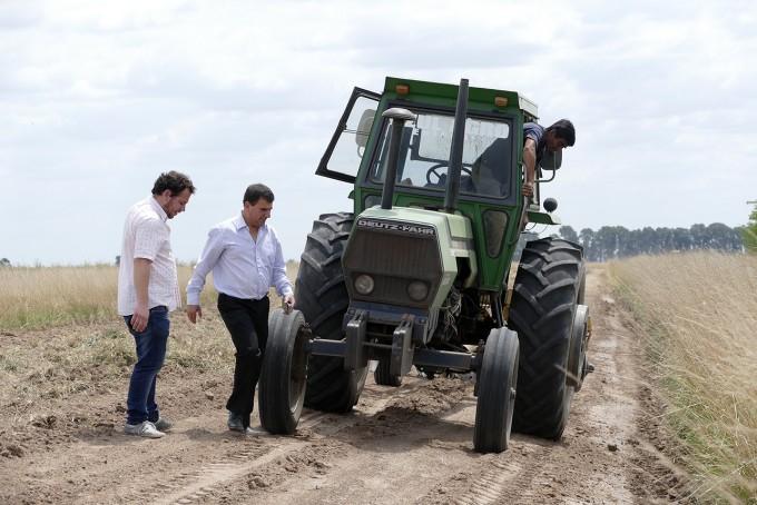 Azul: el Intendente  verificó el avance de diferentes trabajos en Cacharí