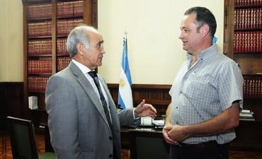El vicegobernador recibió al intendente de Alvear