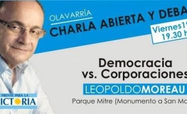 Leopoldo Moreau brindará una charla abierta