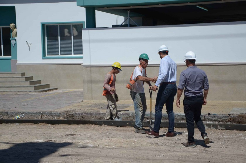 El municipio repavimenta Pelegrino y Maipú