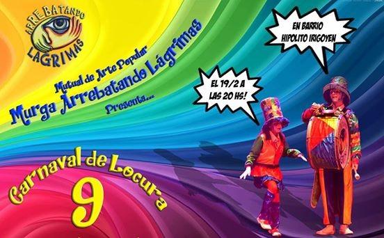 Arrebatando Lagrimas realiza el 9no. Carnaval de la Locura