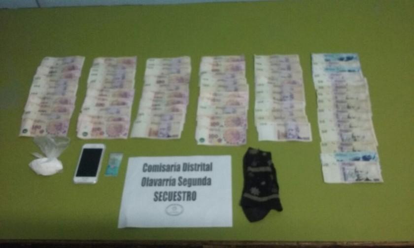 Encuentran cocaína en allanamiento por robo