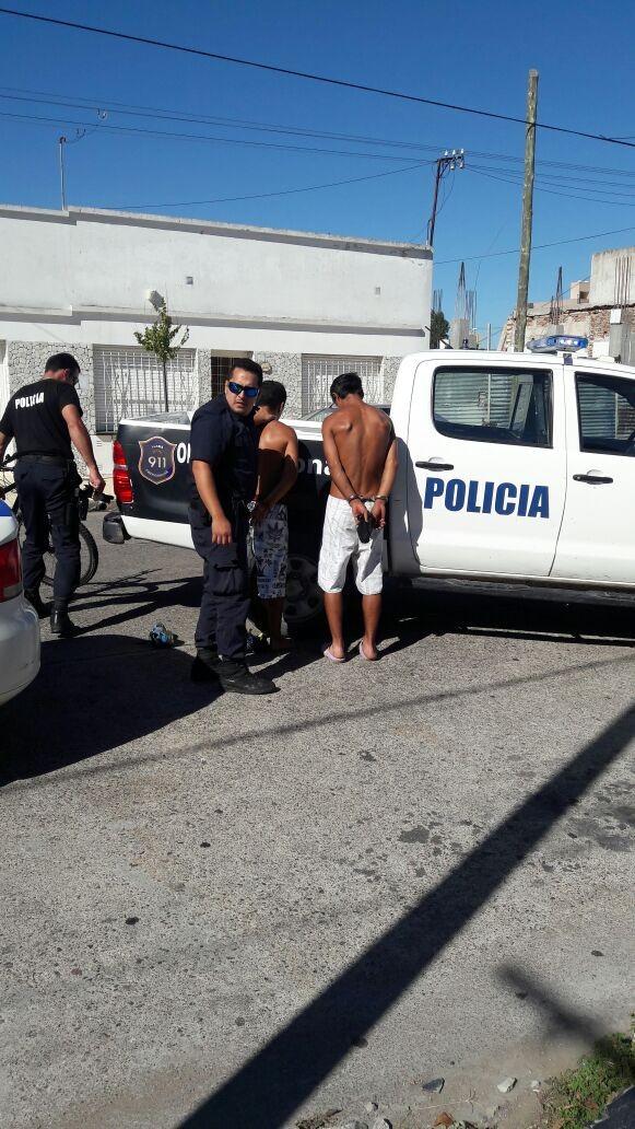 Dos detenidos por robo in fraganti