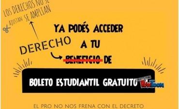Boleto Estudiantil Gratuito: Aún no se inició y ya hay polémica