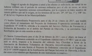 El intendente le pide al Concejo que trate la creación de un Servicio Público contra Incendios y la tasa para financiarlo