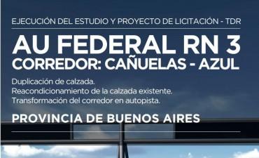 Ruta 3: Vialidad publicó el llamado a licitación para el proyecto de la construcción de la Autovía
