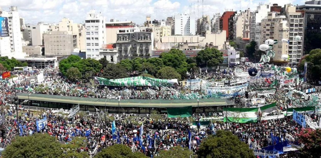El acto de la marcha de protesta comenzó a las 15