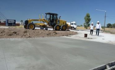 Avanza la obra de la rotonda de acceso a los Parques Industriales