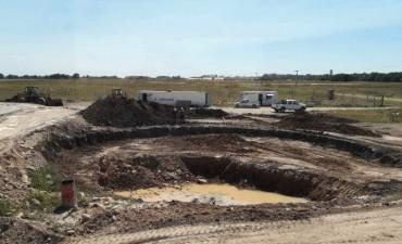 Avanza la construcción de la planta depuradora cloacal para Loma Negra