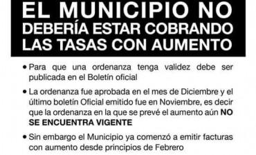 Unidad Ciudadana dice que es ilegal el cobro de las tasas con aumento