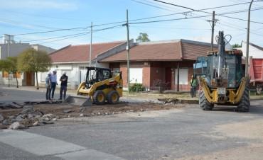 Avanza la repavimentación de 10 sectores en San Vicente