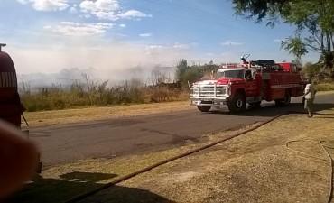 Incendio de magnitud  en Sierra Chica