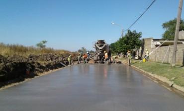 Comenzó la pavimentación en el barrio Fonavi de Sierra Chica