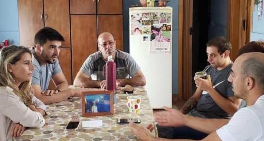 El intendente Ezequiel Galli visito a la familia de Lita, la mujer herida en un intento de asalto