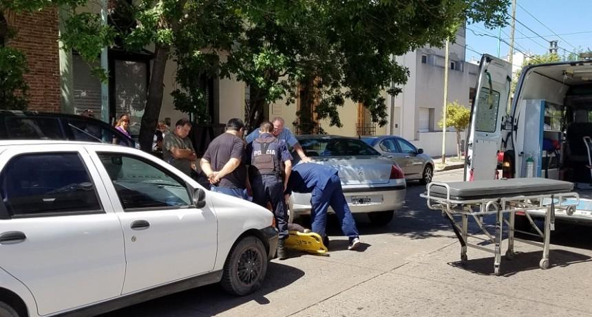 Un motociclista herido en pleno centro