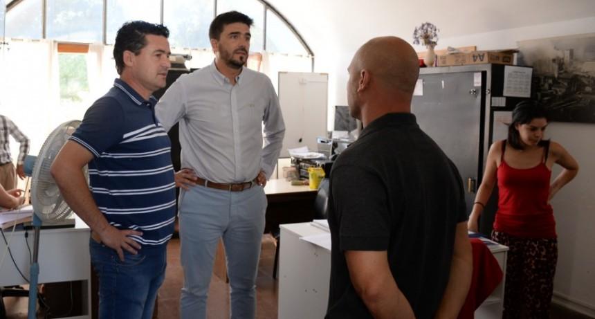 El intendente Galli visitó la localidad de Loma Negra