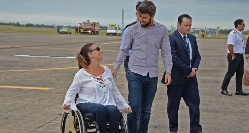 La vicepresidenta Michetti pasó por Olavarría