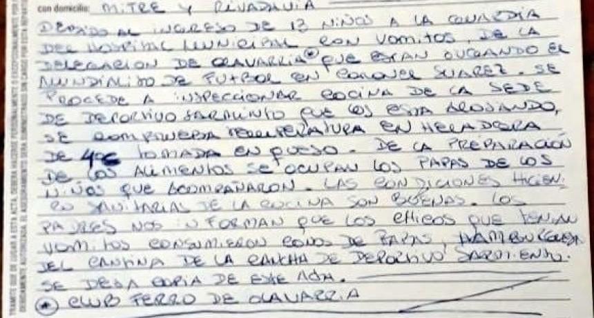 Chicos del plantel de Ferro intoxicados en Coronel Suárez