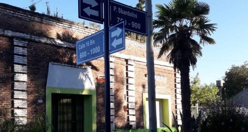 Nueva señalética vial para Sierra Chica