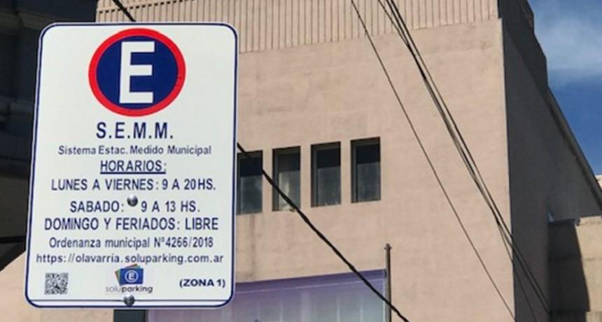Actualización de las tarifas del Estacionamiento Medido