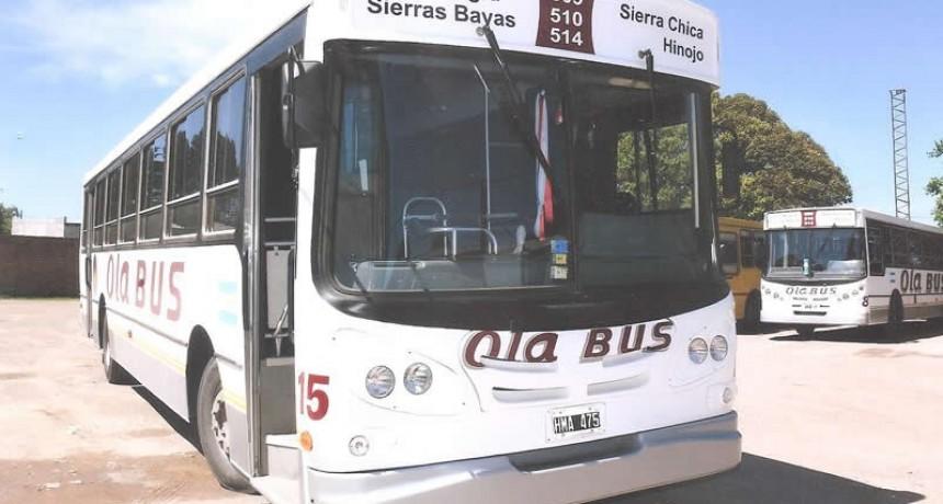 Inspecciones en estado de colectivos de Ola Bus