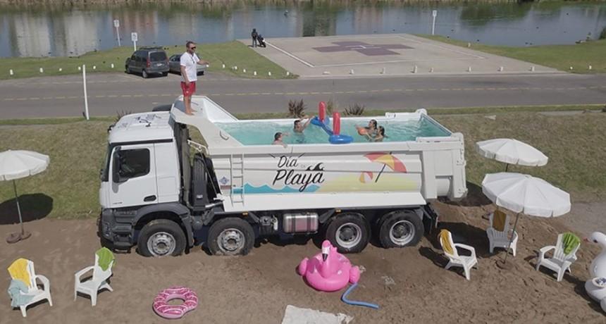 El Pool Truck de Mercedez Benz recorrio la costa Argentina
