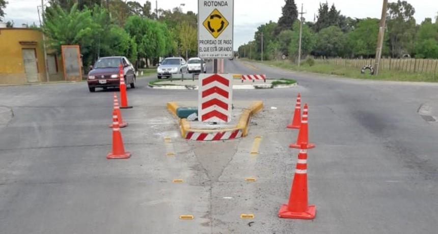 Trabajos de infraestructura vial en la zona de los barrios Belén y Matadero