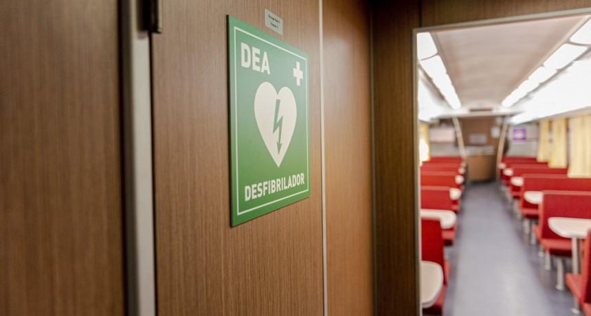 Los trenes a Bahía Blanca ya cuentan con desfibriladores a bordo