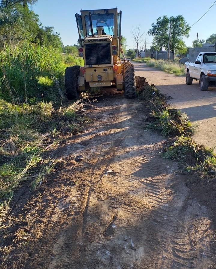 Avanzan los trabajos de mantenimiento de calles en barrio Belén