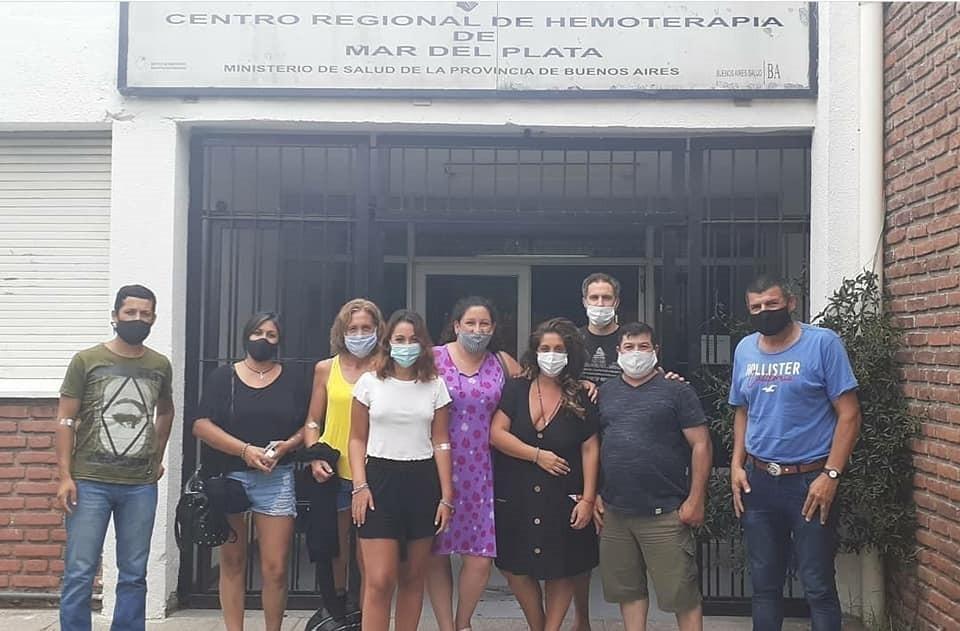 Acto solidario, agentes de la unidad Nº17 donaron plasma