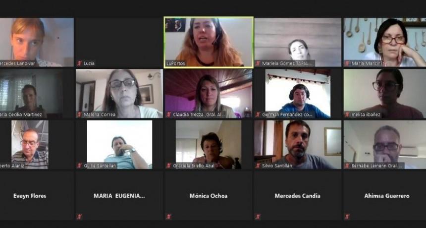 Lucía Portos encabezó un encuentro con ediles de la séptima del Frente de Todos