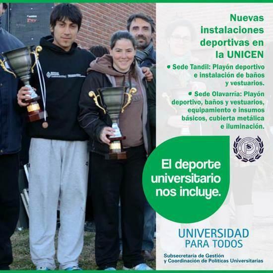 Desde la Nación dan cuenta de obras de infraestructura deportiva en la UNICEN