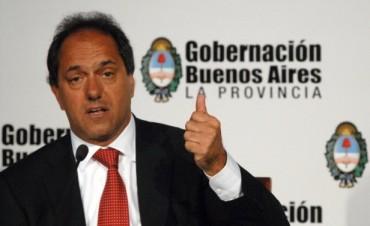 Scioli dijo que no anunciará aumento de impuestos ante la Asamblea