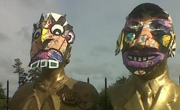 Carnaval: Parapeatón intervino varios monumentos en la ciudad