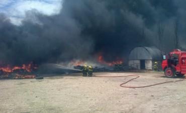 Laprida: incendio en la planta de tratamiento de residuos sólidos