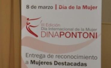 Día de la Mujer: premio Dina Pontoni y reconocimiento al compromiso