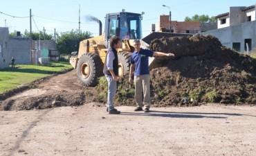 Mejoramiento en calles del barrio Villa Magdalena