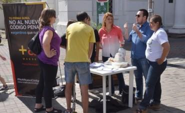 No al Nuevo Código Penal:la campaña en Olavarría