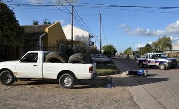 Continúa grave el motociclista accidentado