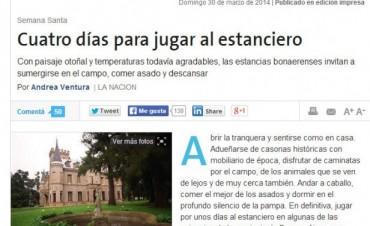 """Olavarría en el Suplemento de Turismo de Diario """"La Nación"""""""