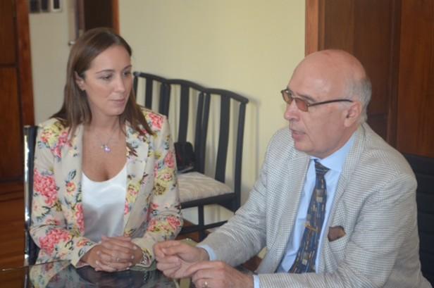 Vidal se reunió con otro intendente radical