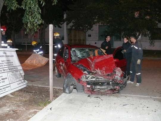 Fatal accidente en el centro de Alvear