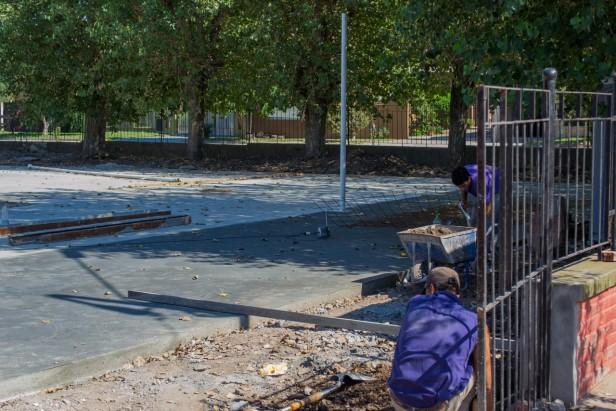 Continúan las obras en la Escuela N° 77 de Sierras Bayas