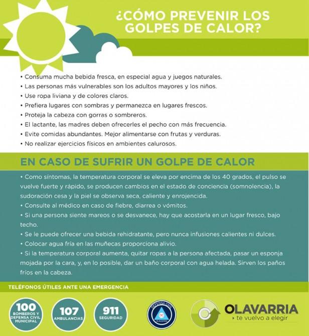 Recomendaciones para prevenir problemas de salud ante las altas temperaturas