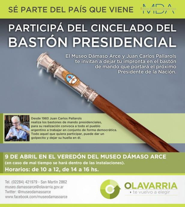 Pallarols estará en Olavarría cincelando el bastón presidencial