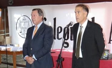 El Ministro de Justicia Dr. Ricardo Casal en Azul