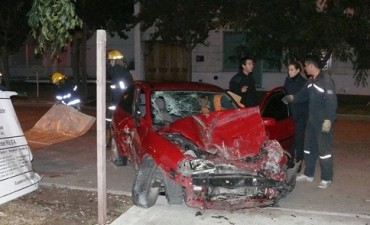 Fatal accidente en el centro de Alvear