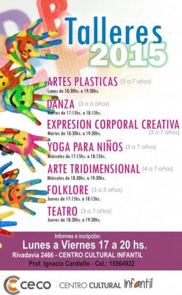 Está abierta la inscripción a los talleres artísticos del Centro Cultural Infantil del CECO