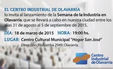 Lanzamiento de la Semana de la Industria en Olavarría